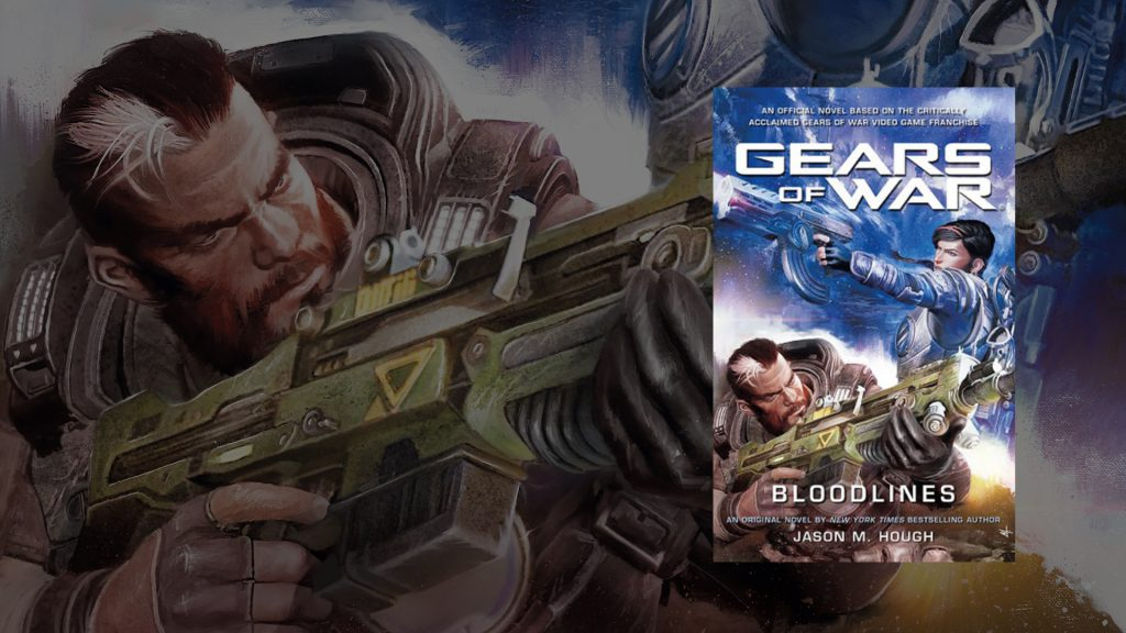 The front cover of the Gears of War Bloodlines novel