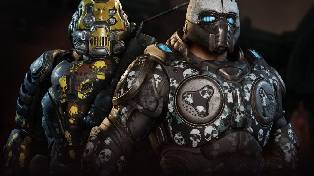 Showing off the Heroes and the Monsters armor skins, available now in Gears Tactics